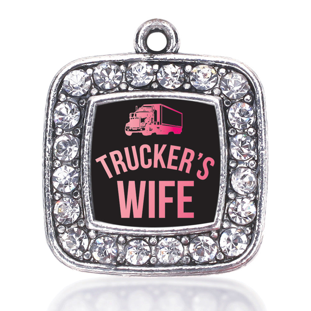 Trucker's Wife Square Charm