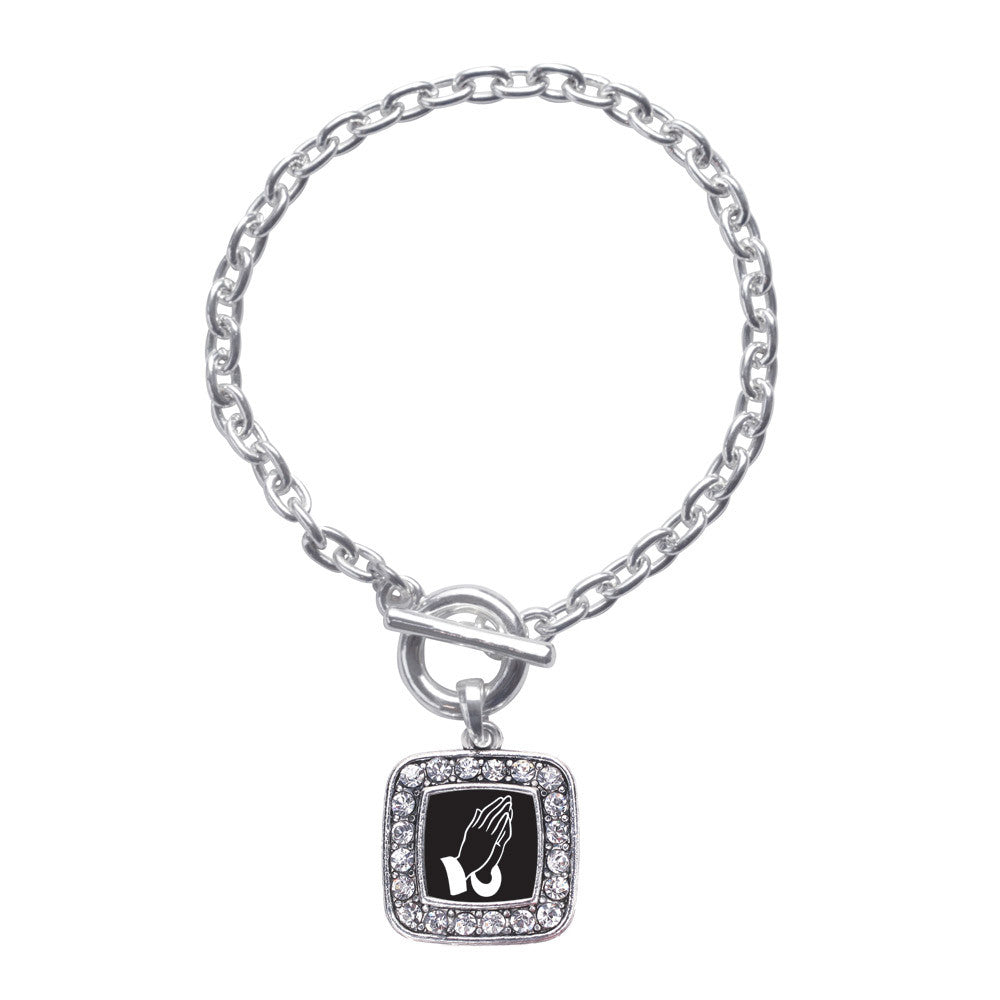 Praying Hands Square Charm