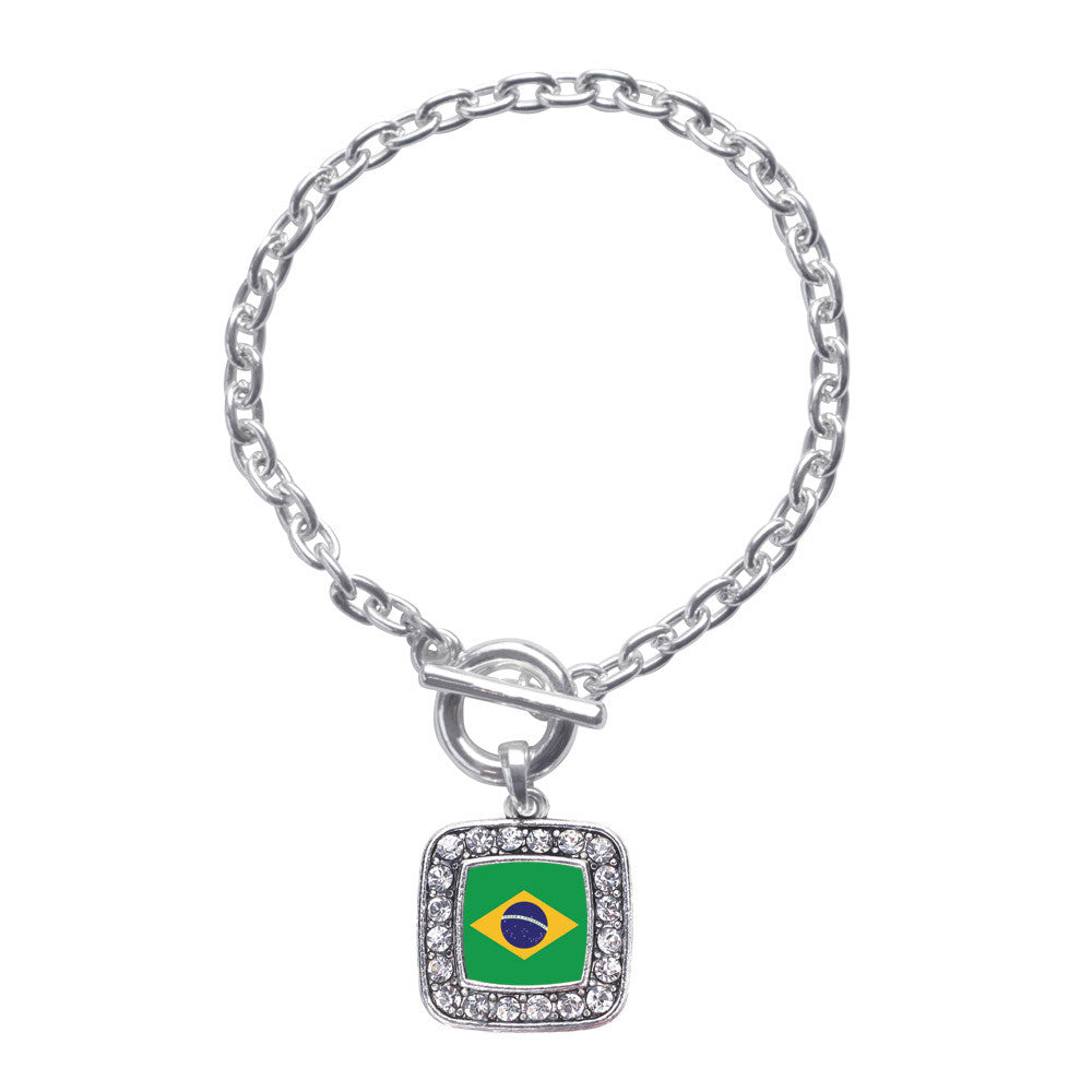 Brazilian Flag Square Charm