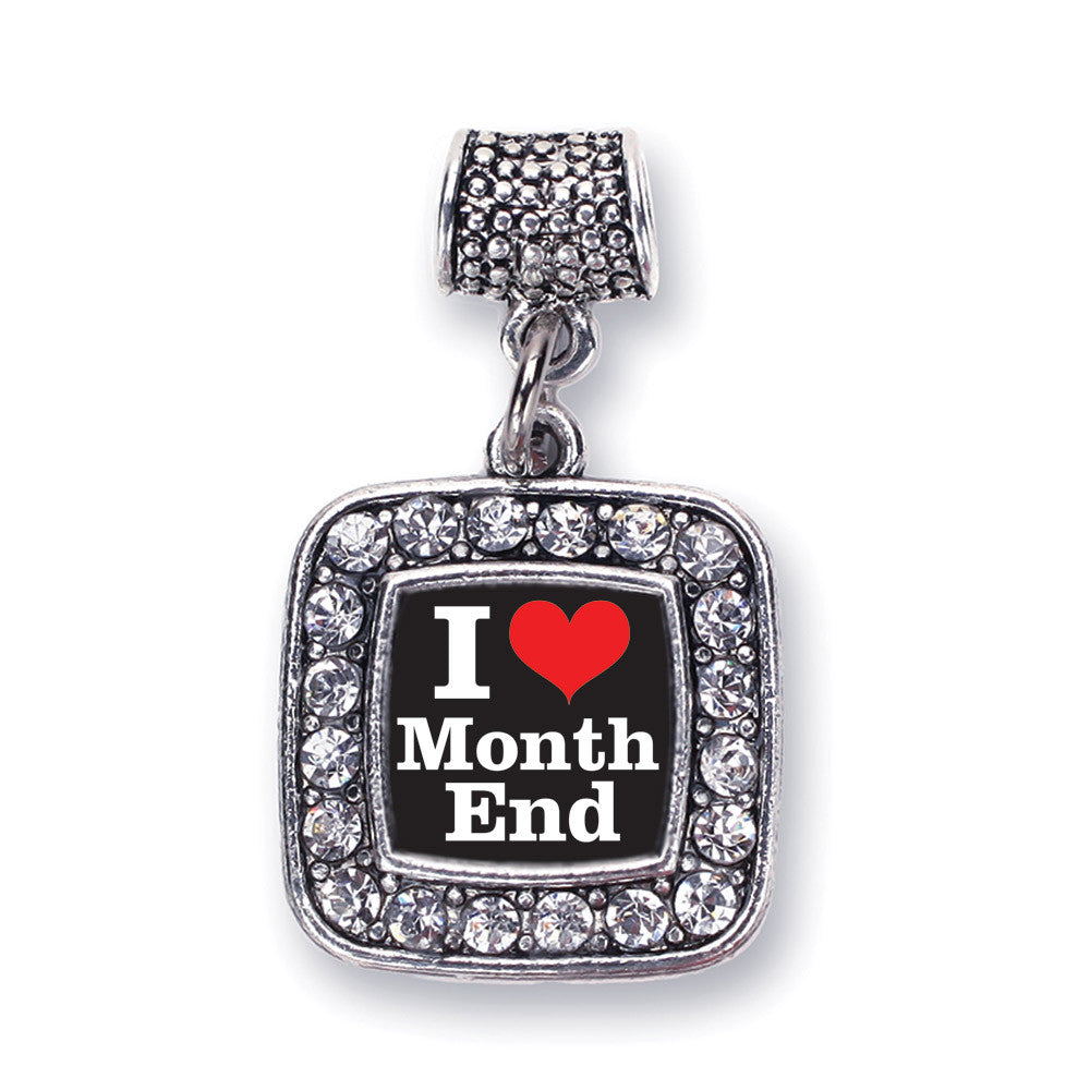I Love Months End Accountant Square Charm
