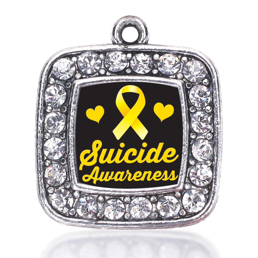 Suicide Awareness Square Charm