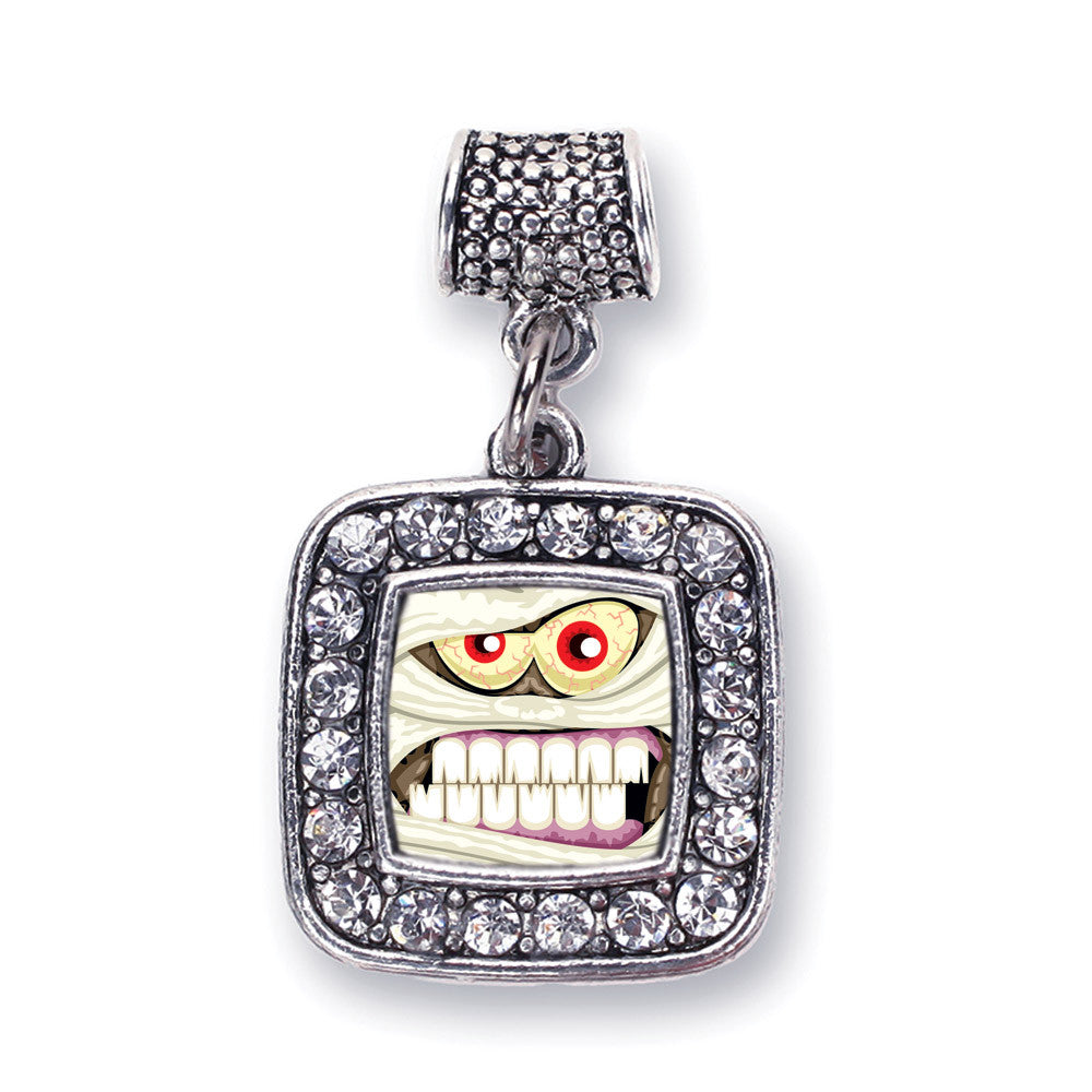 Angry Mummy Square Charm