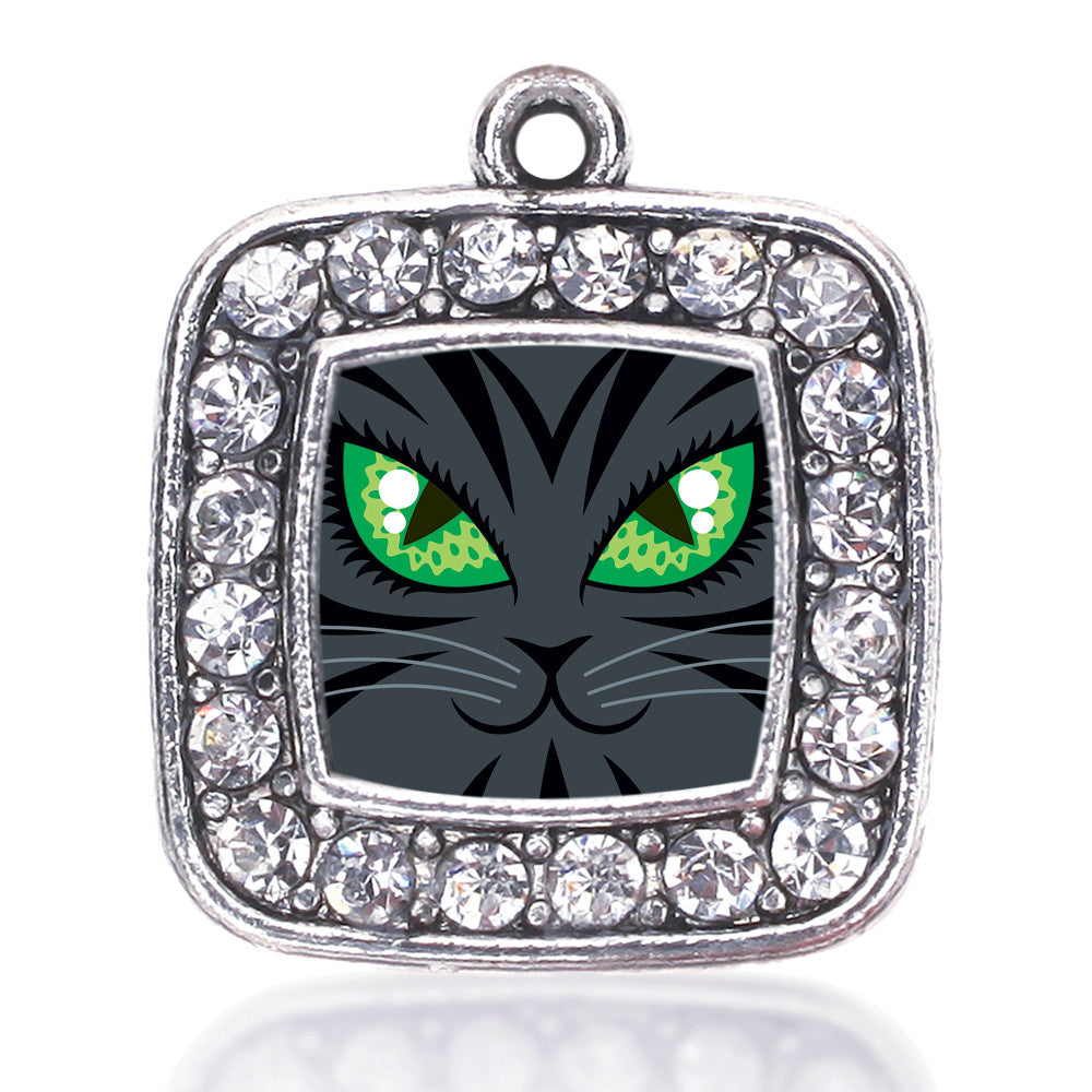 Mischevious Cat Square Charm