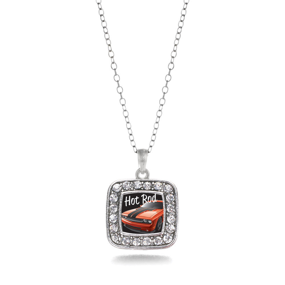 Hot Rod Square Charm