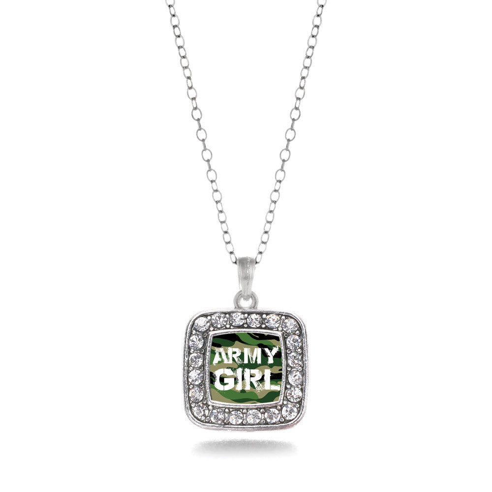 Army Girl Square Charm