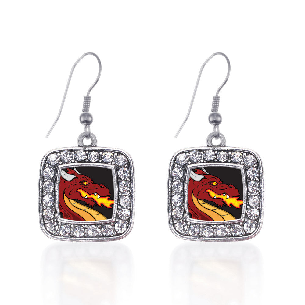 Fire Breathing Dragon Square Charm