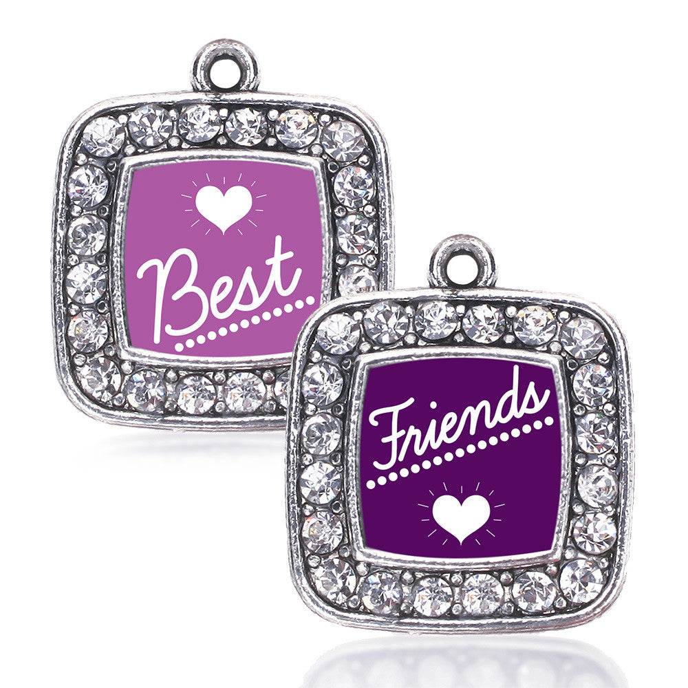 Best Friends Set Square Charm