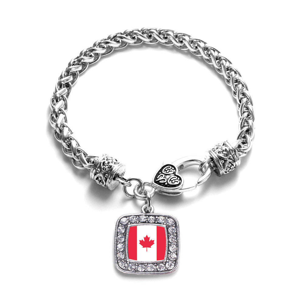 Canadian Flag Square Charm