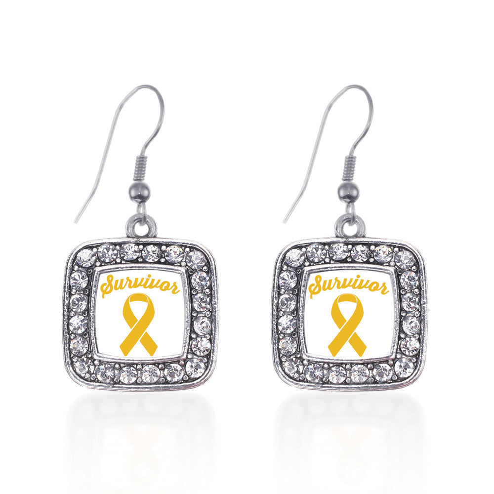 Yellow Ribbon Survivor Square Charm