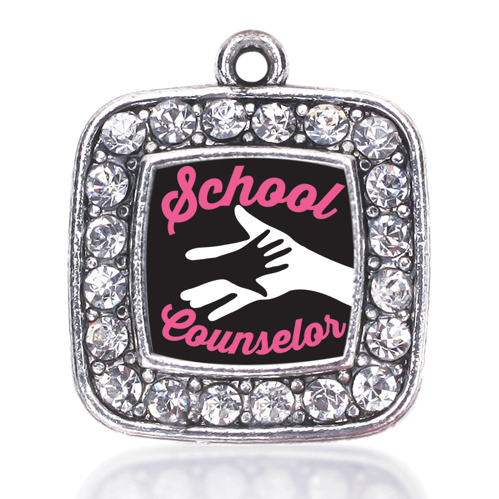 School Counselor Square Charm