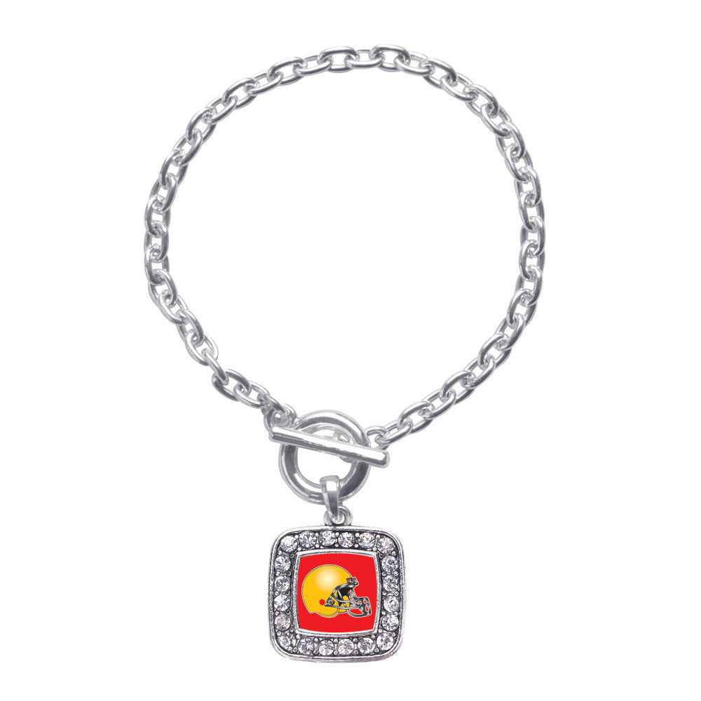 Red and Yellow Team Helmet Square Charm