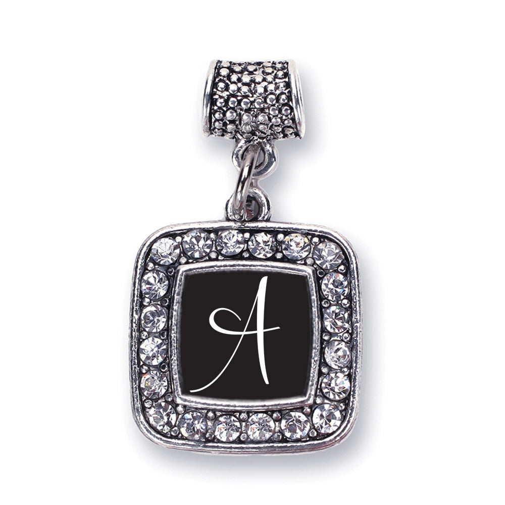 My Script Initials - Letter A Square Charm