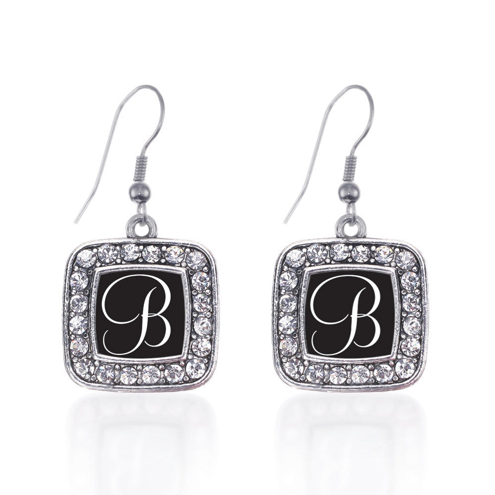 My Script Initials - Letter B Square Charm