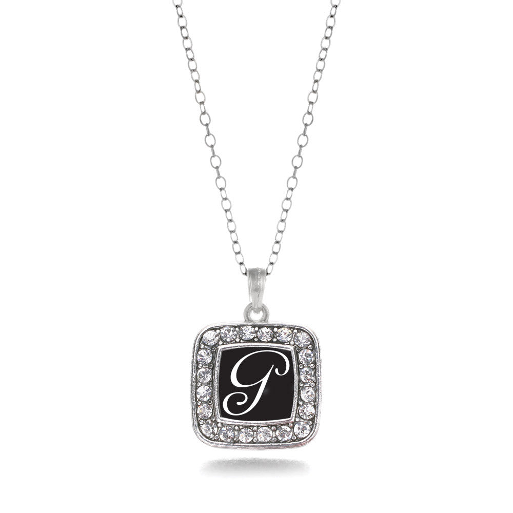 My Script Initials - Letter G Square Charm