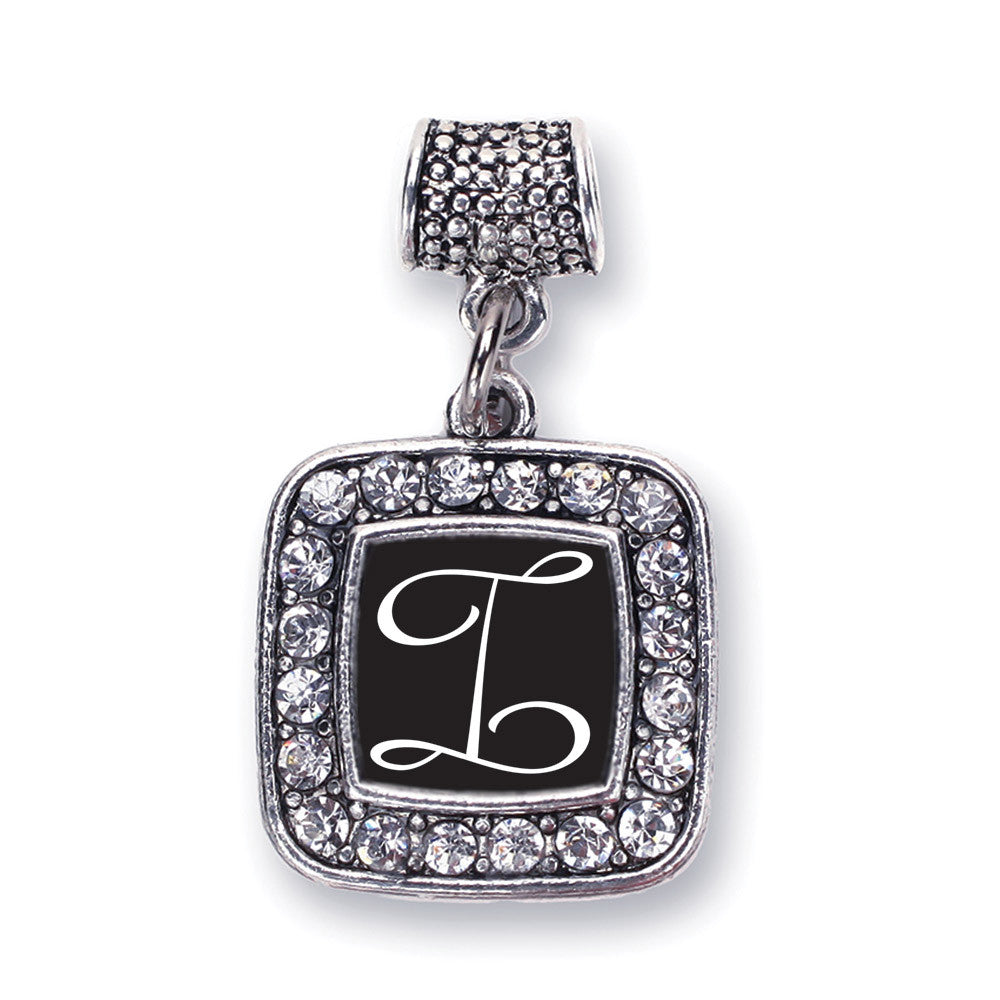 My Script Initials - Letter I Square Charm