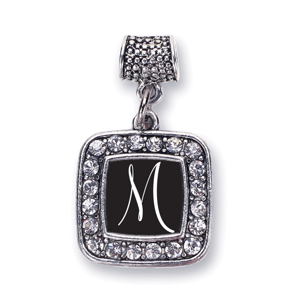 My Script Initials - Letter M Square Charm