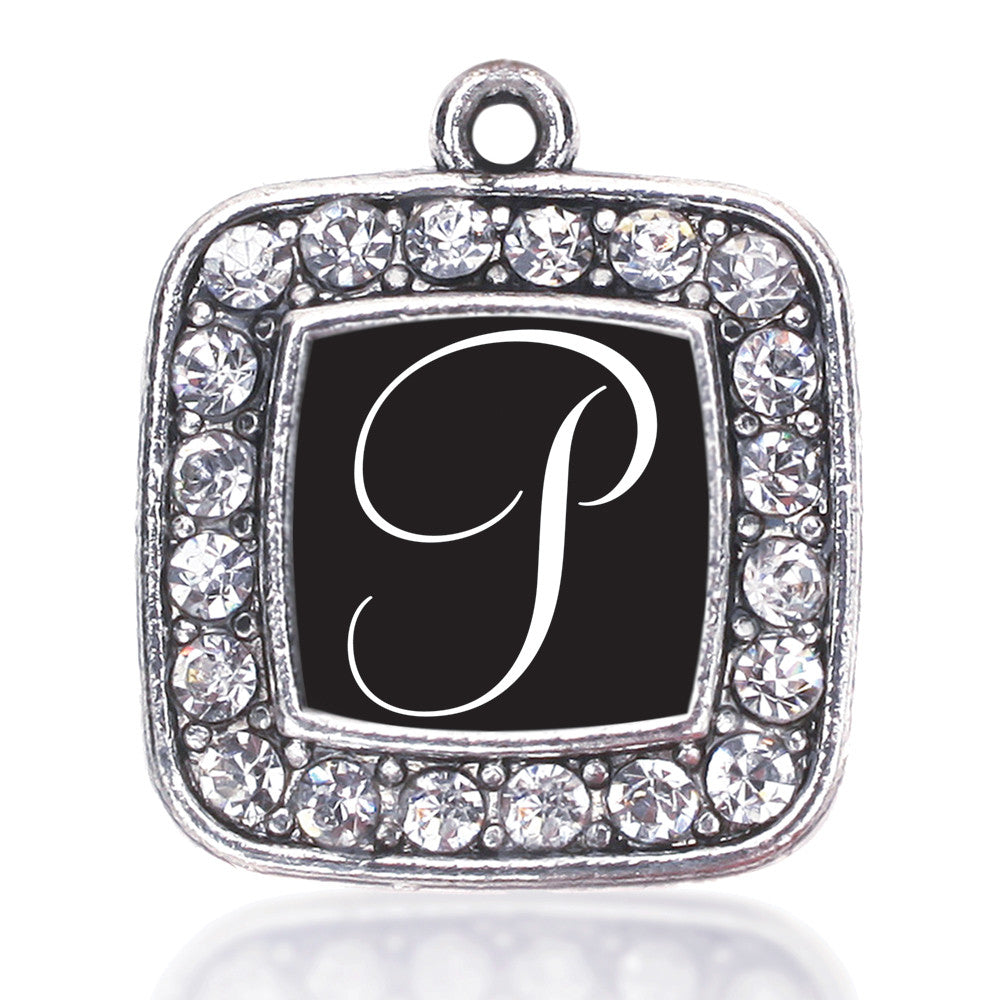 My Script Initials - Letter P Square Charm