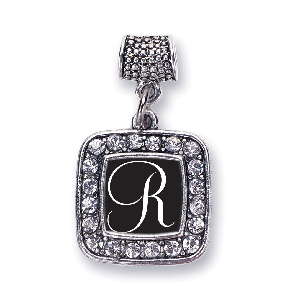 My Script Initials - Letter R Square Charm