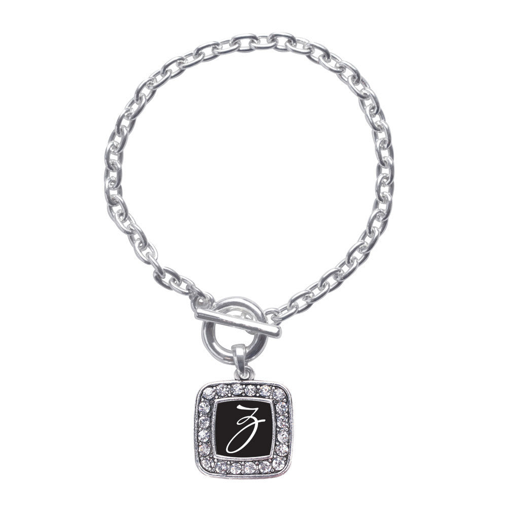 My Script Initials - Letter Z Square Charm