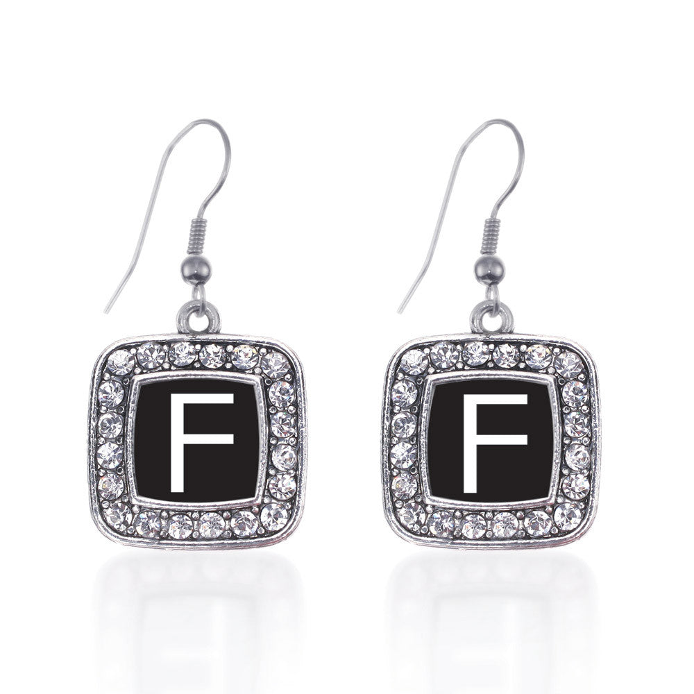 My Initials - Letter F Square Charm