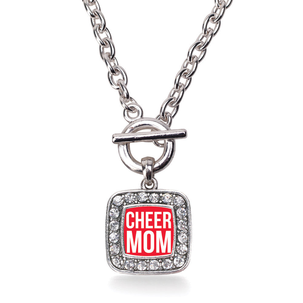 Cheer Mom Square Charm