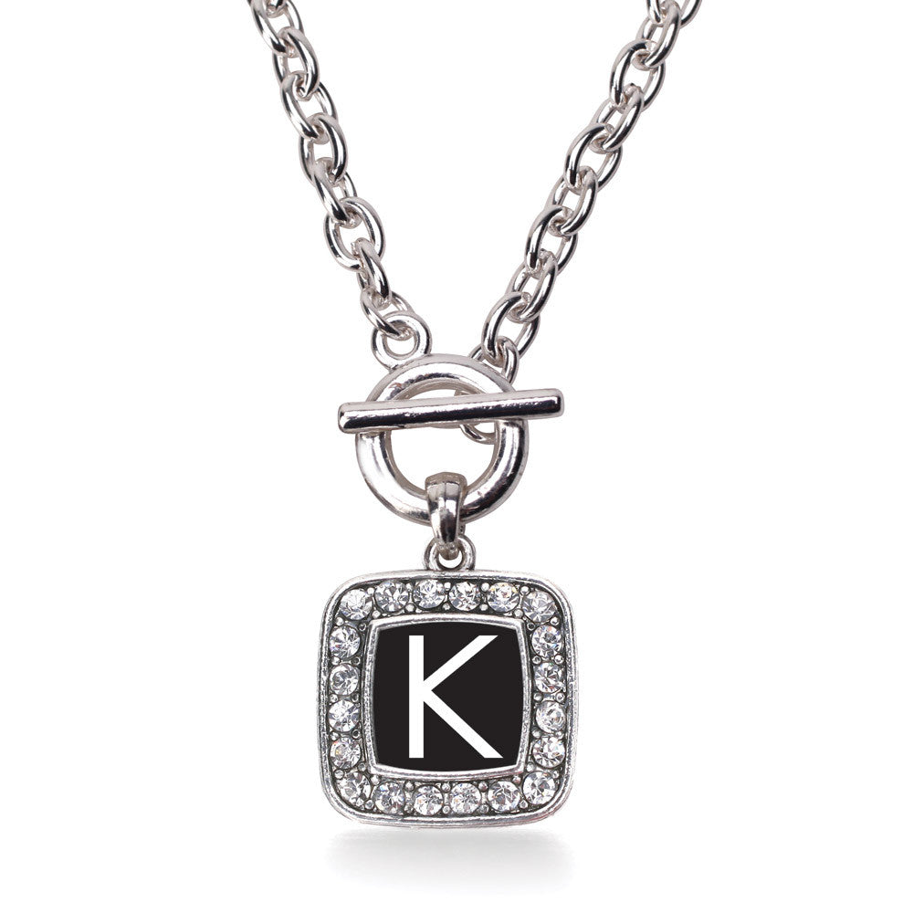My Initials - Letter K Square Charm
