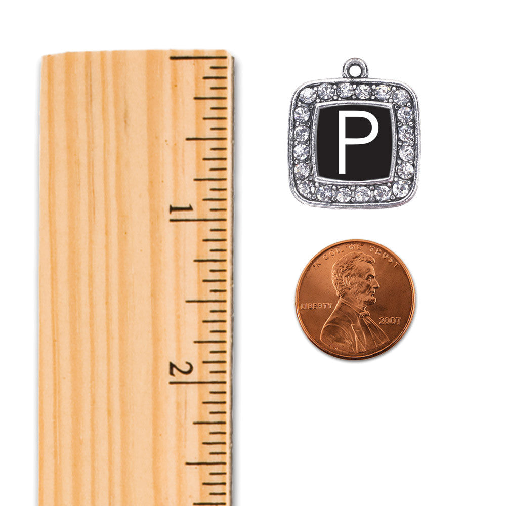 My Initials - Letter P Square Charm