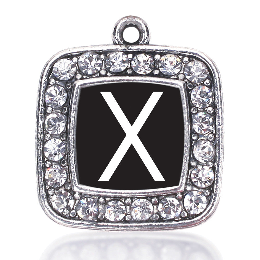 My Initials - Letter X Square Charm