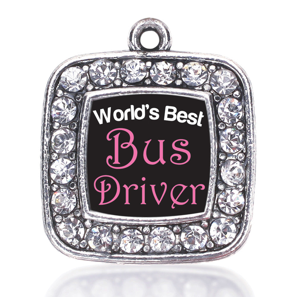 World's Best Bus Driver Square Charm