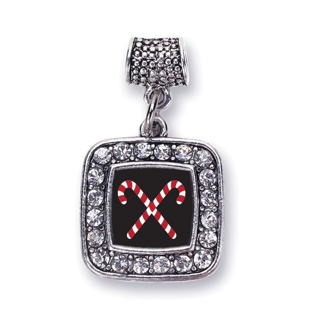 Candy Cane Square Charm