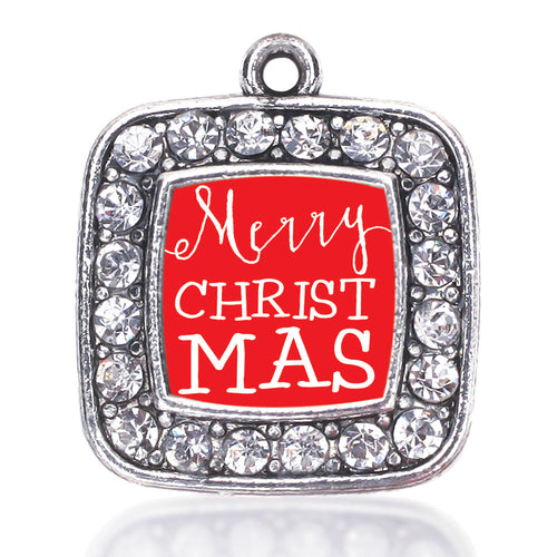 Merry Christmas Square Charm