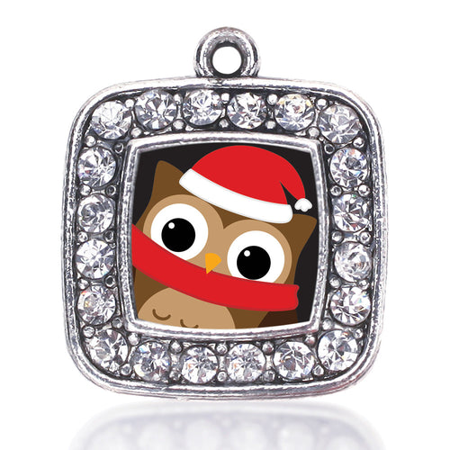 Holiday Hoot Square Charm