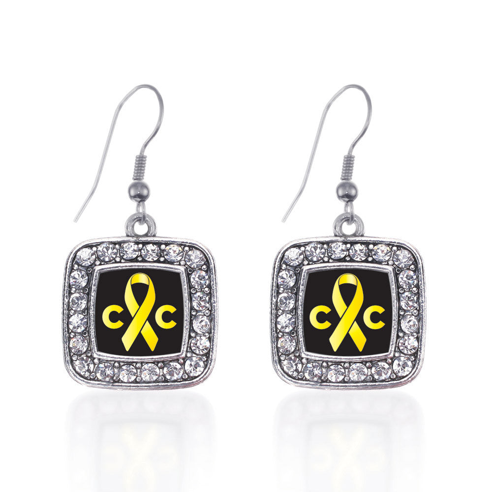 Childhood Cancer Support Square Charm