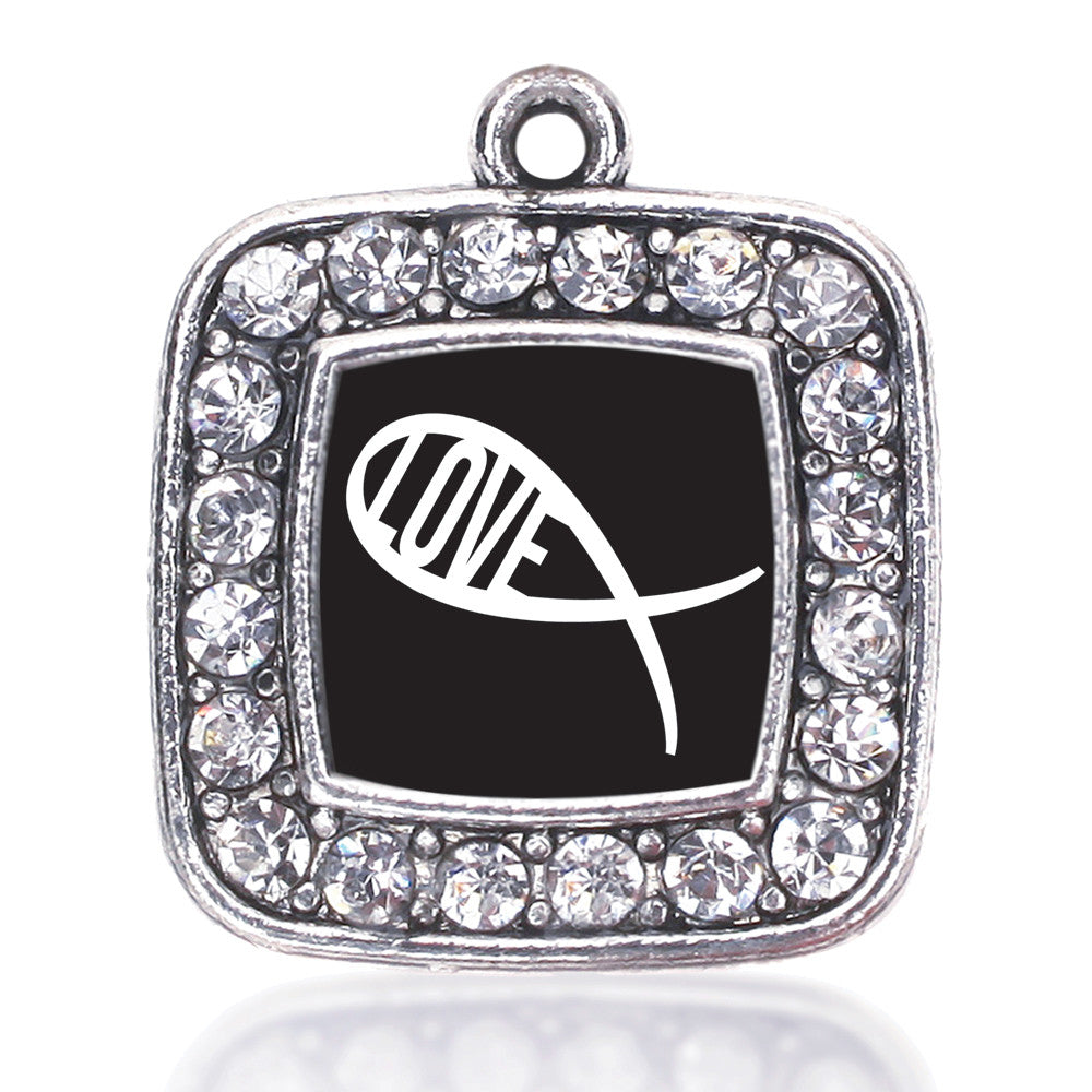 Christian Fish Love Square Charm