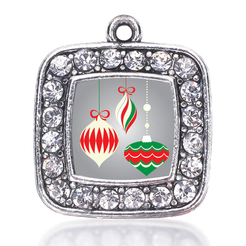 Holiday Ornaments Square Charm