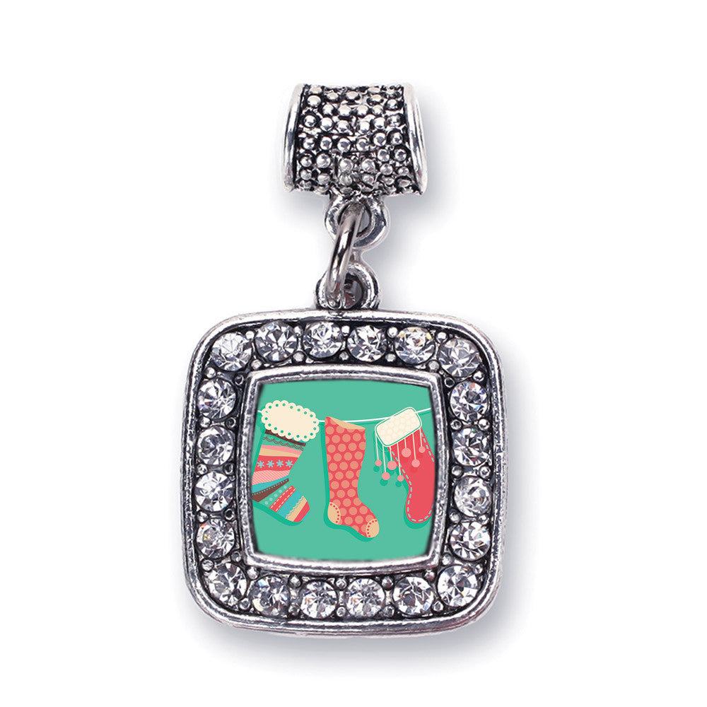 Holiday Stockings Square Charm