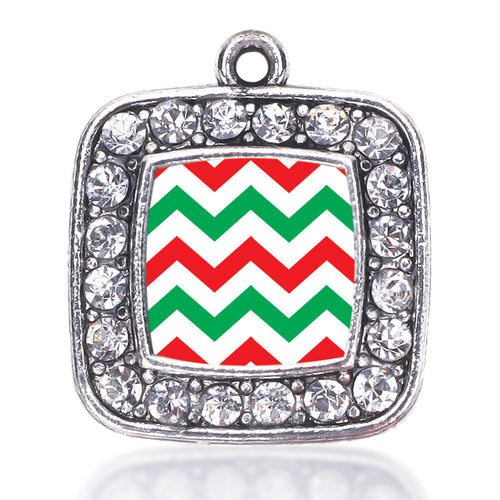 Holiday Chevron Square Charm