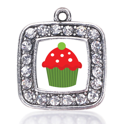 Holiday Cupcake Square Charm