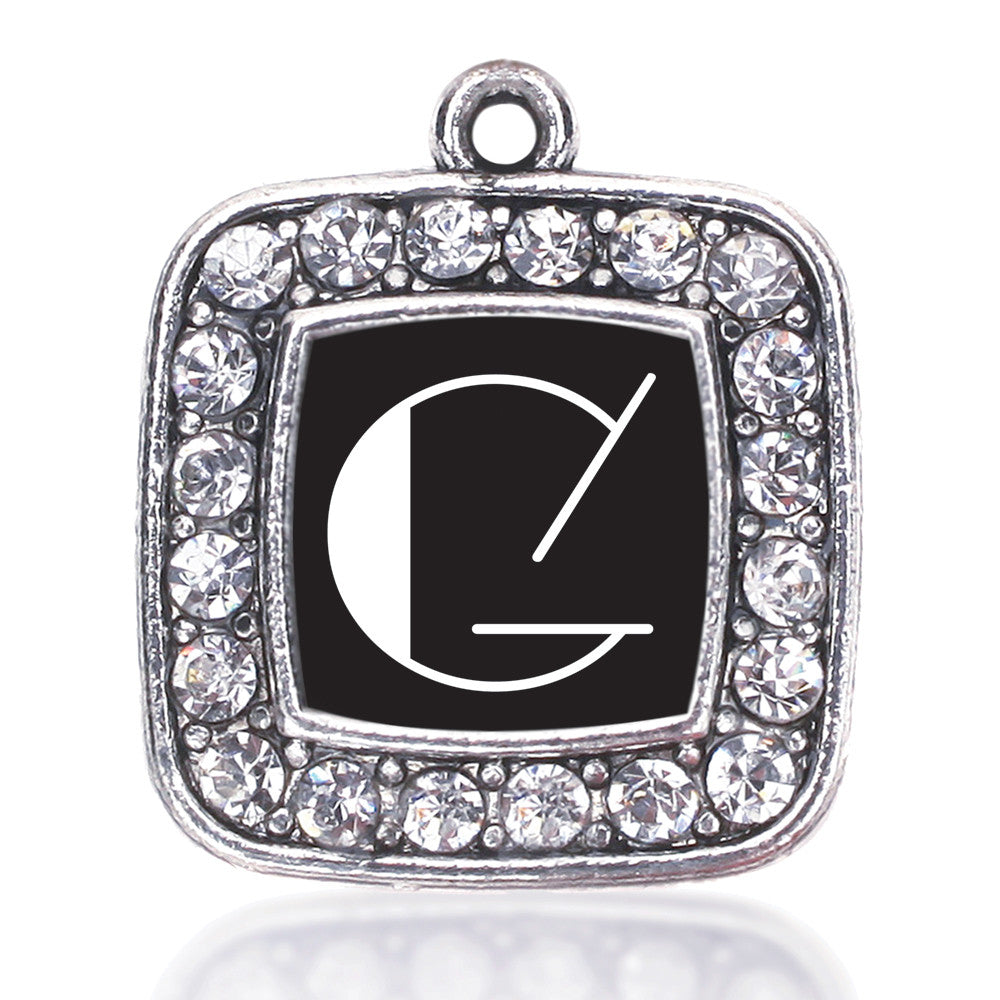 My Vintage Initials - Letter G Square Charm