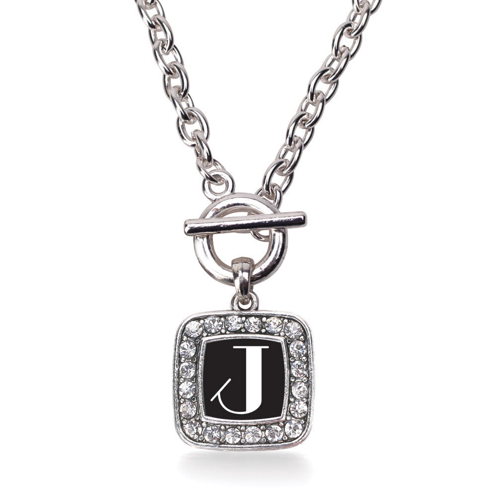 My Vintage Initials - Letter J Square Charm