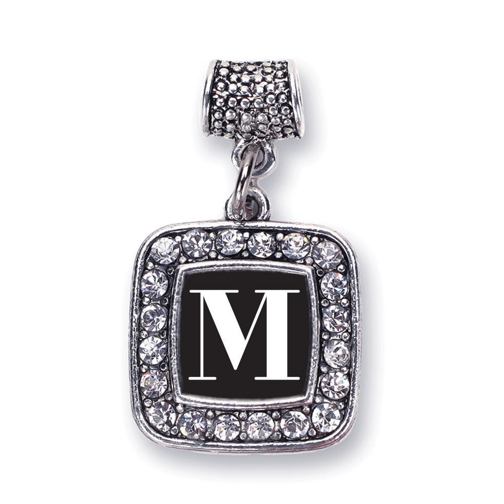 My Vintage Initials - Letter M Square Charm
