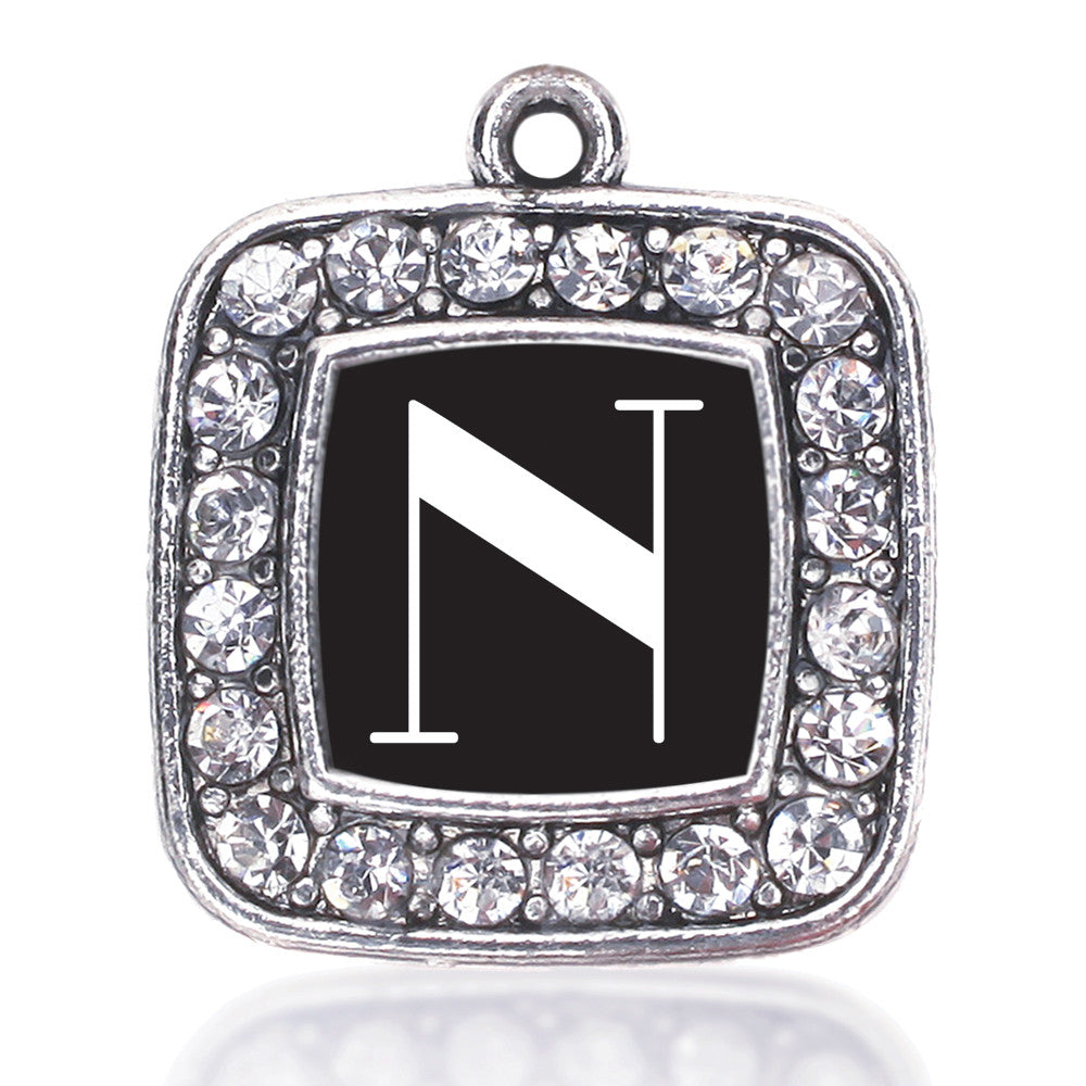 My Vintage Initials - Letter N Square Charm