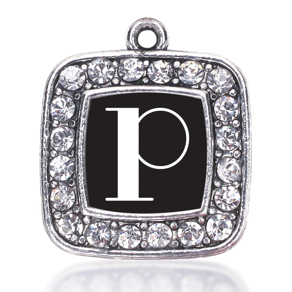 My Vintage Initials - Letter P Square Charm