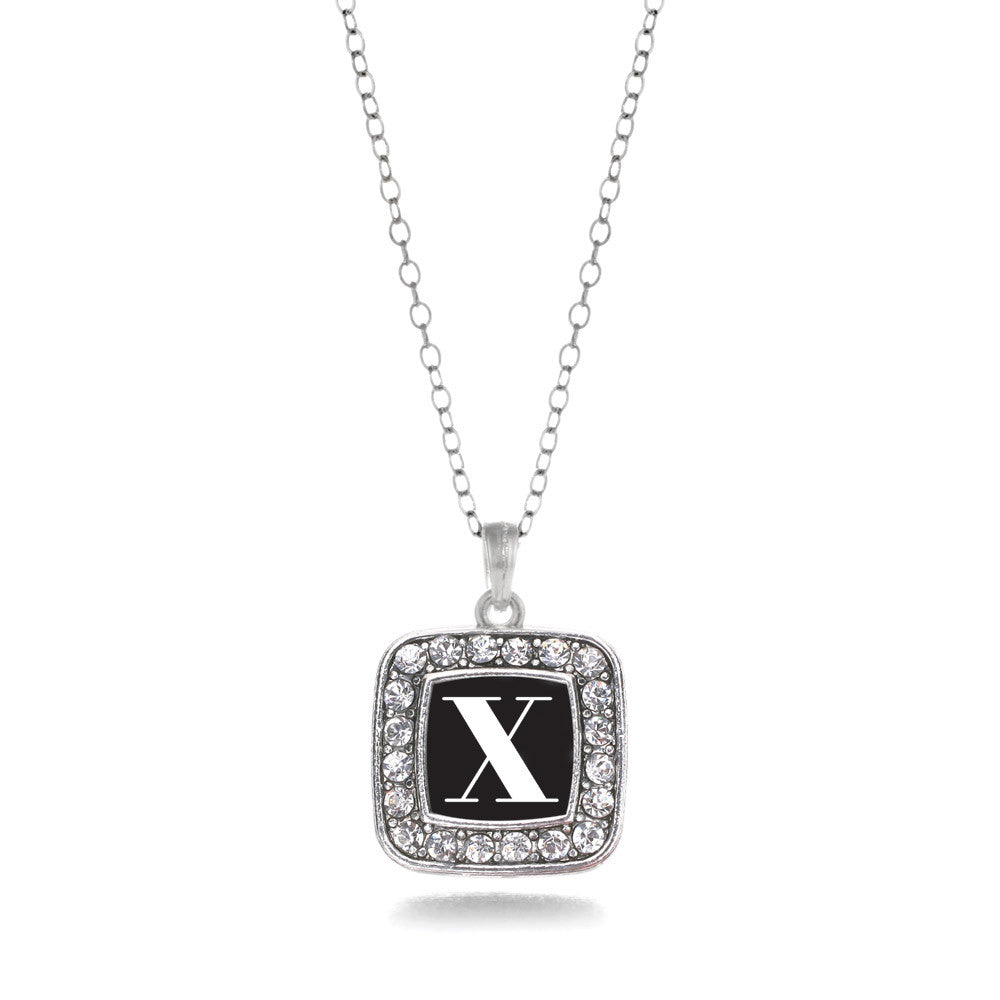 My Vintage Initials - Letter X Square Charm