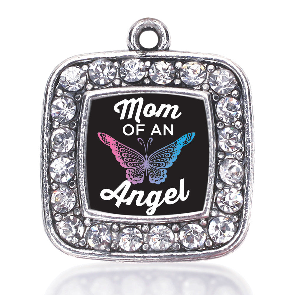 Mom Of An Angel Square Charm