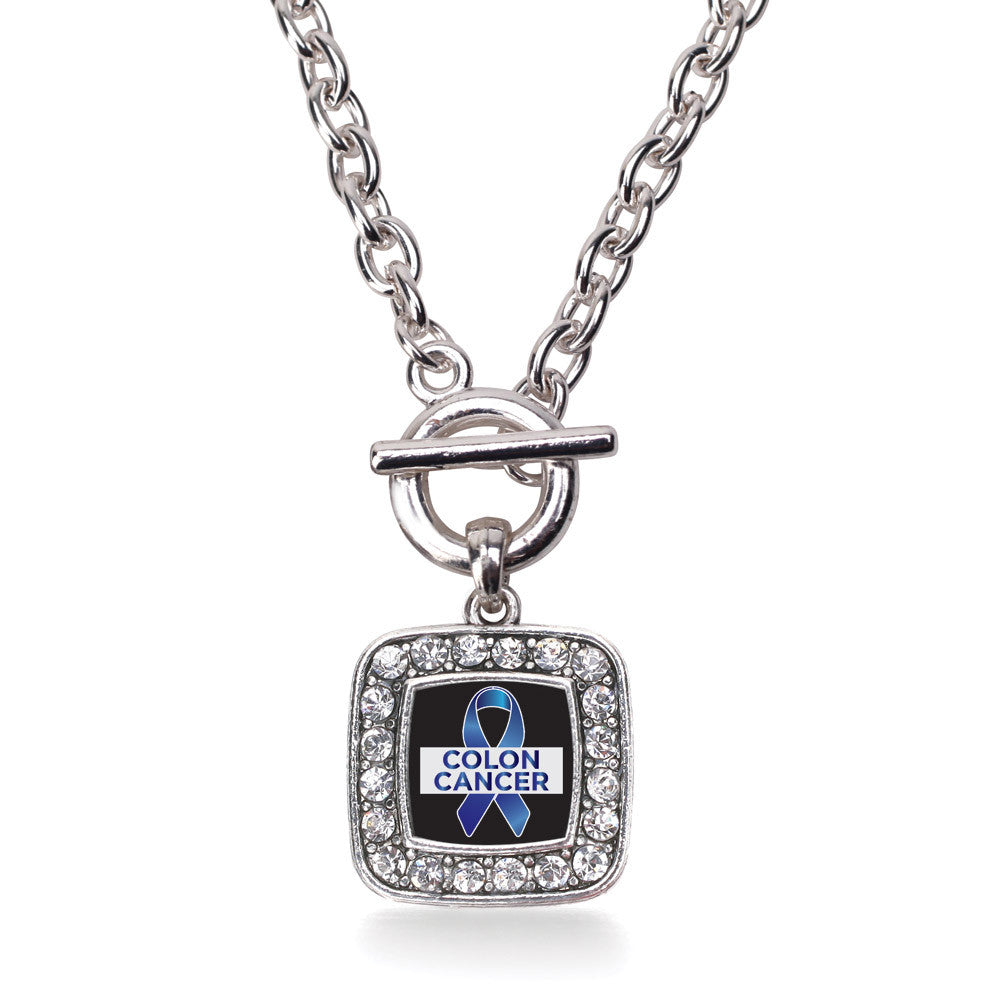 Colon Cancer Support Square Charm