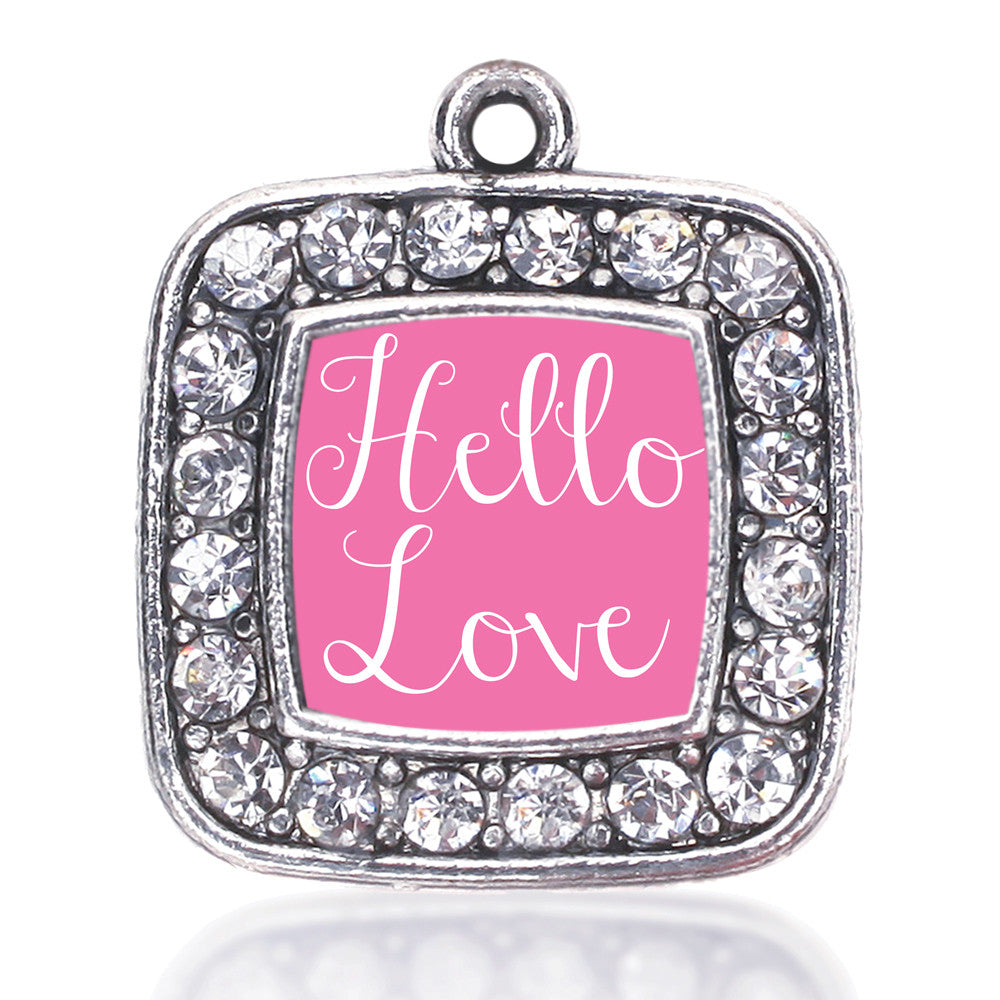 Hello Love Square Charm