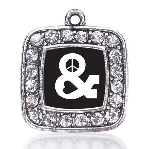 Simply Peace And Love Square Charm
