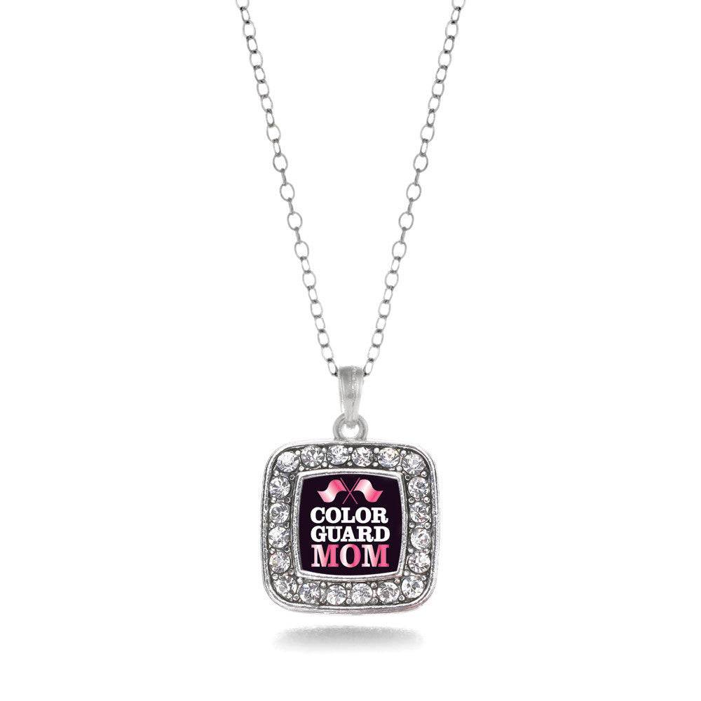 Color Guard Mom Square Charm
