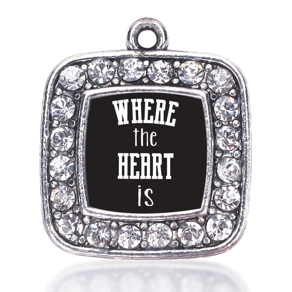 Where The Heart Is Square Charm